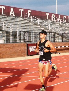 Lucas Muniz dominated the Preparathon Half Marathon in Starkville, MS last week in Starkville